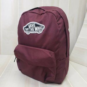 Vans Backpack Maroon Skateboard Logo Laptop Bag